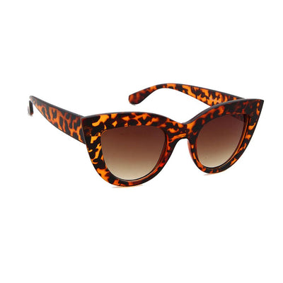 Womens Oversize Bold Rimmed High Fashion Cat Eye Sunglasses