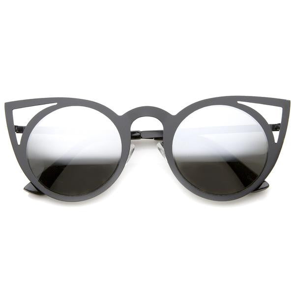 Mirrored Cat Eye Sunglasses - Sunglasses - Red Label Eyewear - redlabeleyewear.com