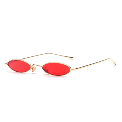 Small Retro 1990's Monet Oval Metal Colorful Lens Sunglasses