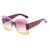Oversize Guccy Everything Modern Tri-Color Glitter Sunglasses