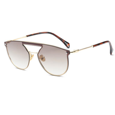 Mens Modern Lux Frame Flat Top Aviator Sunglasses