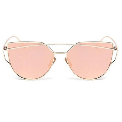 Gold Double Brow Bar Fire Frame Sunglasses