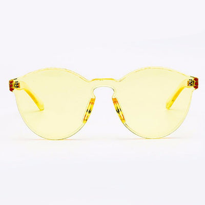 Block Cut Aviator Rainbow Frame Sunglasses