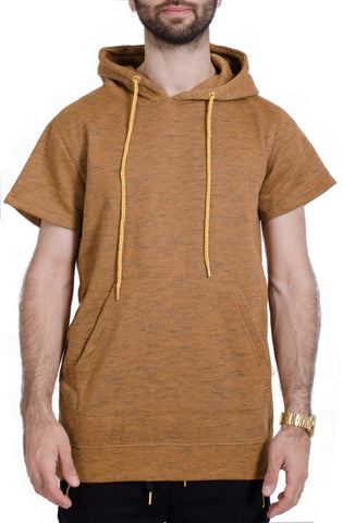 Marled Pull Over Hoodie in Timber