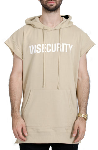 French Terry Drop Shoulder Hoodie in Sand