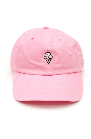 Ice Cream Dad Hat in Pink