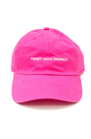 Tweet With Respect Dad Hat in Hot Pink