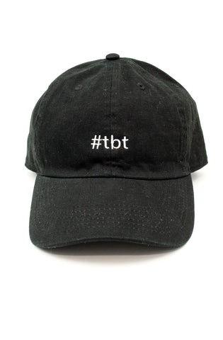 Throwback Dad Hat in Black