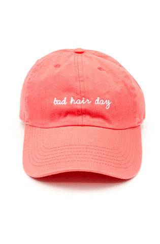 Bad Hair Day Dad Hat in Peach