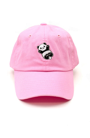 Panda Dad Hat in Pink