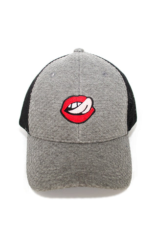 Lips Trucker Hat in Heather Gray