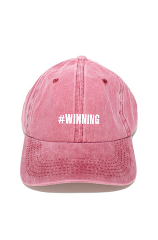 Winning Dad Hat in Maroon