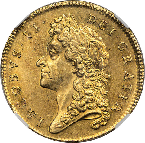 James II Gold 5 Guineas 1687 NGC MS61