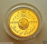 1994 GOLD PROOF FOUR COIN SET £5 £2 BANK OF ENGLAND, SOVEREIGN, HALF SOVEREIGN