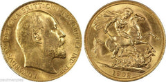 Coins:Coins:British:Edward VII (1902-1910):Sovereign