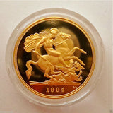 1994 ROYAL MINT ST GEORGE SOLID 22K GOLD PROOF HALF SOVEREIGN COIN BOX COA