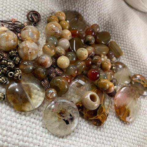 Agate and Stone Bead Mix - 5.71 oz.