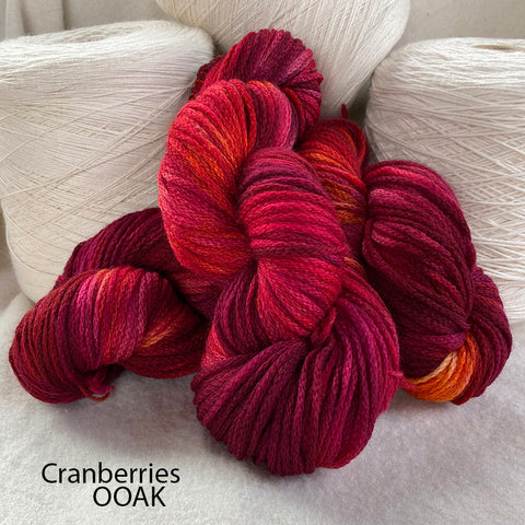 Chain Reaction - Cranberries OOAK - DK Yarn