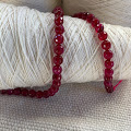 Red Strand of Beads - 47 beads - 8.5mm