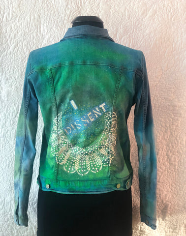 Tie Dyed Jean Jacket - I Dissent