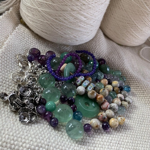 Stone and Lampwork Bead Mix - 8.11 oz.