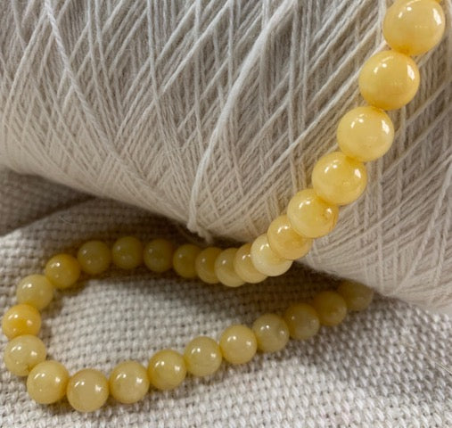 Yellow Jade Strand of Beads - 10mm - Qty 40
