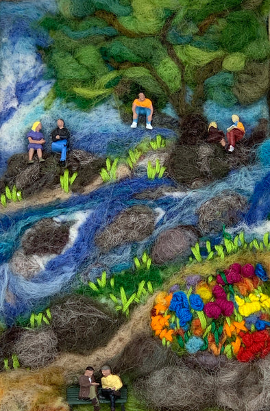 Felted Picture - Summer Afternoon in the Park
