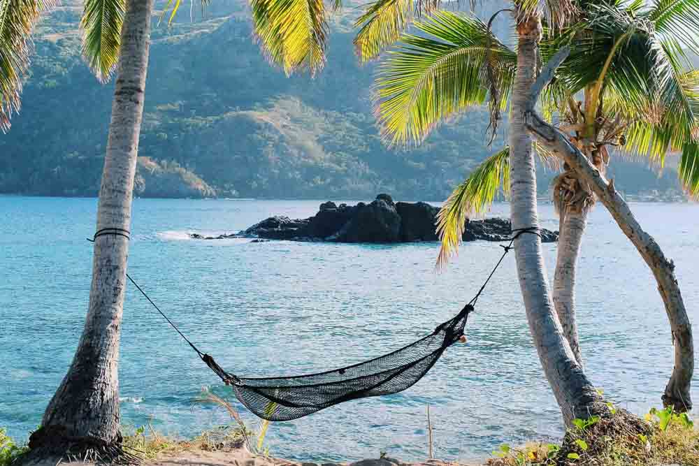 Traditional Black Hammock - Made in Fiji
