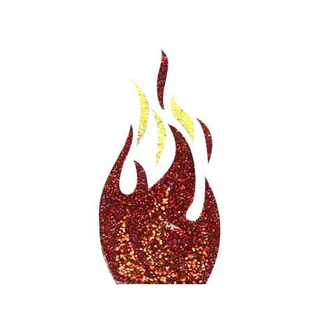 Flame Glitter Stickers