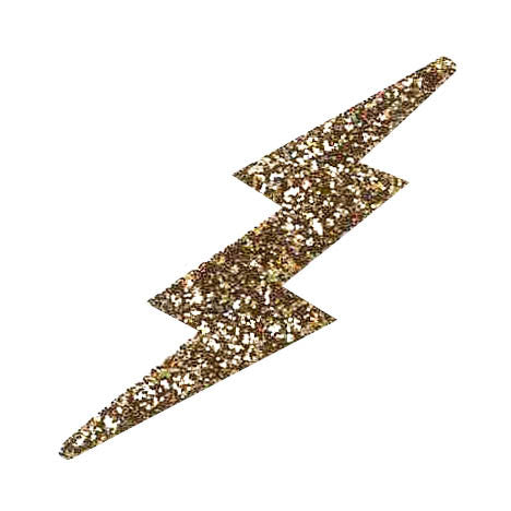 Lightning Bolt Glitter Stickers