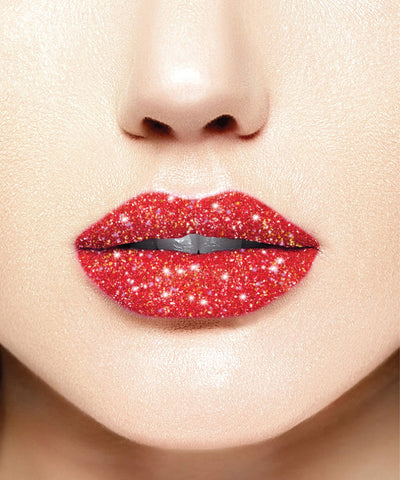 "Glitter Lips ""Ruby Slippers"" - DANCE red"
