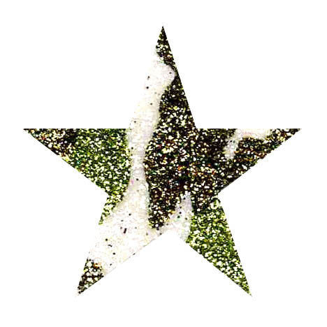 Green Camouflage Glitter Sticker