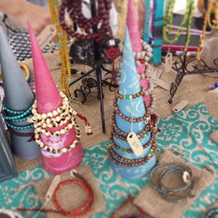 DIY Jewelry Display Cones