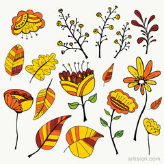 Free Weekly Download (Hand Drawn Flowers & Elements)
