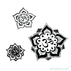 Hand Drawn Lotus Om