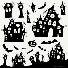 Free Weekly Download (Hand Drawn Halloween Clip Art)