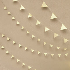 DIY Geometric Triangle Garland