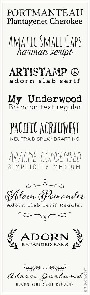 Font Combinations – Artision