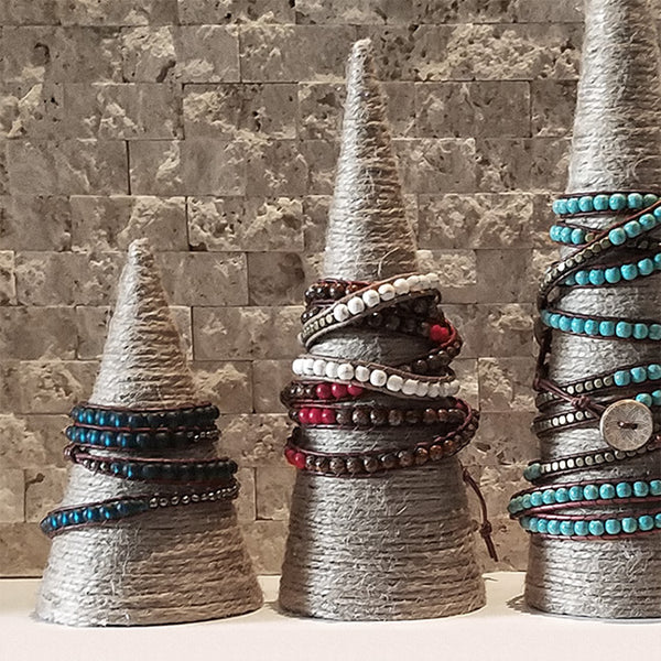 Hemp Jewelry Display Cones - Detail