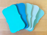 "Blue Ocean Ombre Color Note Cards / Place Cards - size (2"" x 3.5"") - Set of 50"