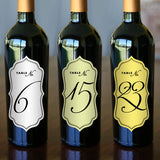 "Wine Bottle Table Numbers - 2.5"" x 5"""