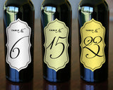 "Table Numbers - 2.5"" x 5"" Formal"