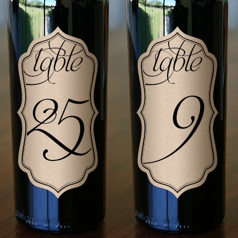 "Wedding Table Numbers 2.5"" x 5"""
