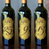 "Table Numbers - 2.5"" x 5"" Gold Foil"