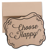 """Choose Happy"" Inspirational Card"