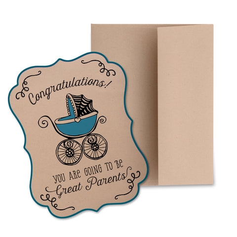 New Baby Greeting Card (Blue)