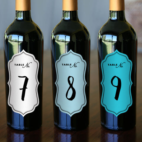"Table Numbers - 2.5"" x 5"" Calligraphic"