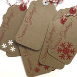Handmade Christmas Kraft Tags 12-pack