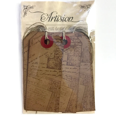 Vintage Style Travel Gift Tags 10-pk