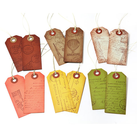 Vintage Style Travel Gift Tags